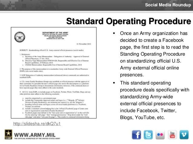briefback format example continued. sop checklist fill form. army ...