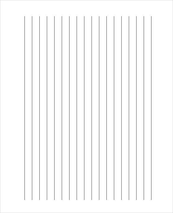 Blank line paper [resume.characterworld.co]