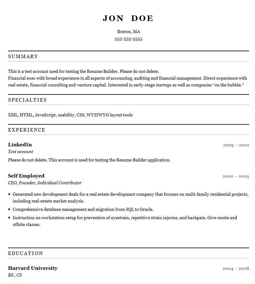 Free Printable Resume Template | Template Design