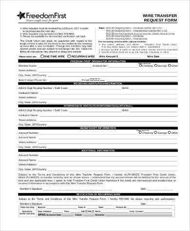 Sample Transfer Request Forms - 9+ Free Documents in PDF