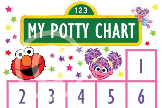 Elmo and Abbie Cadabby Potty Training Sticker Chart / Potty