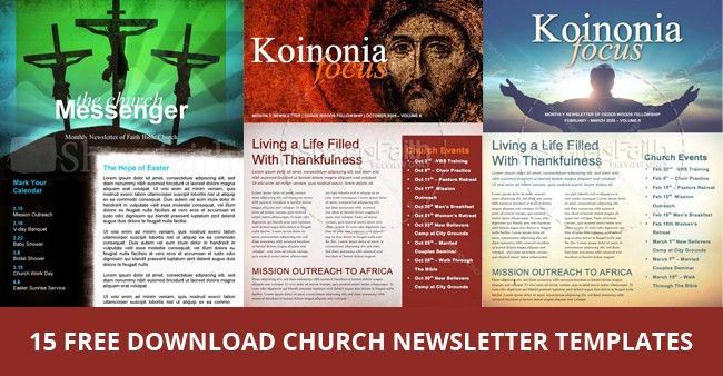 15 Free Church Newsletter Templates - MS Word, Publisher - DesignYep