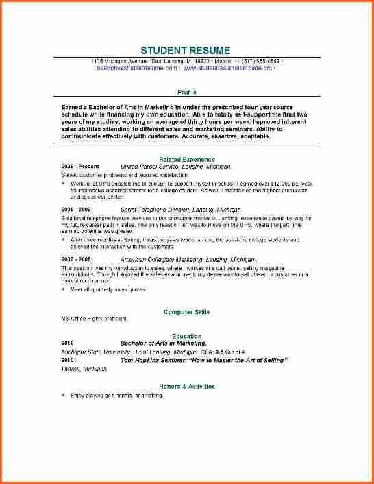 4 Grad School Resume Template - Budget Template Letter