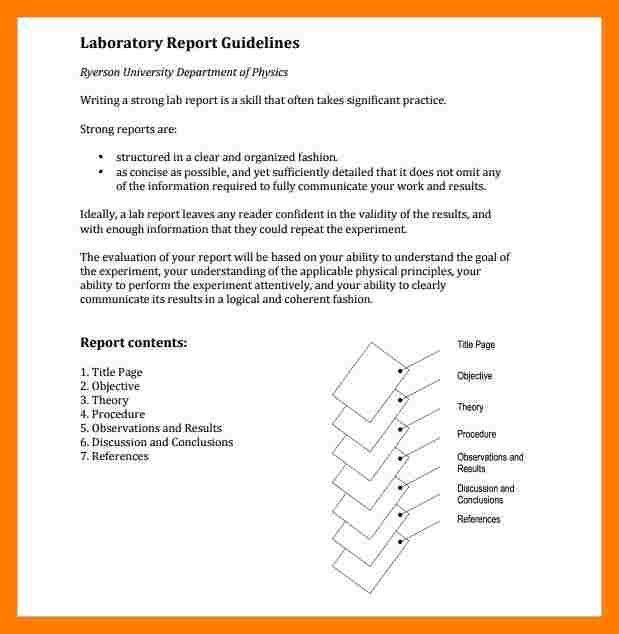 6+ lab report structure example | teller resume