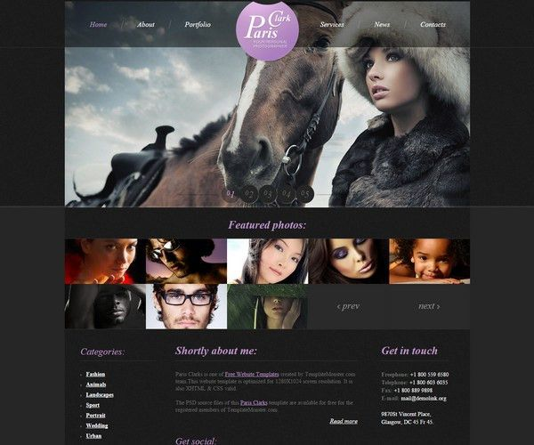 40+ Free Responsive Photography HTML5 Templates