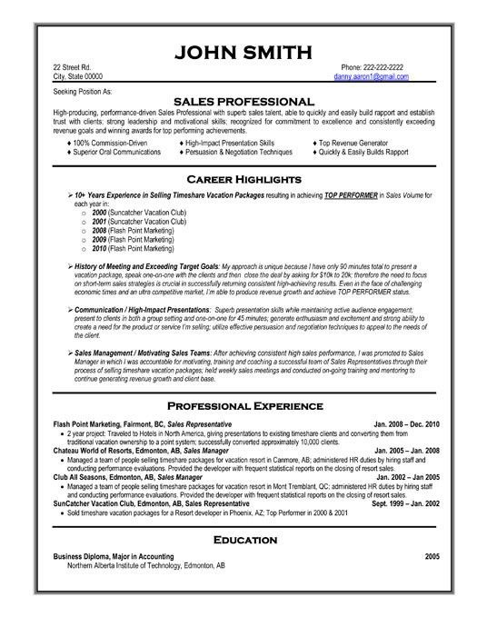 Click Here to Download this Sales Professional Resume Template ...