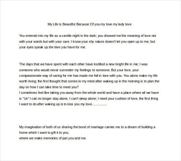 10+ Love Letters for Her - Free Sample, Example, Format Download ...