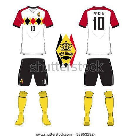 Set Soccer Jersey Football Kit Template Stock Vector 589532924 ...