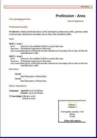CV templates: Functional 1   Resume templates