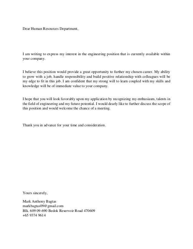 Resume & Cover Letter - Mark Bagtas