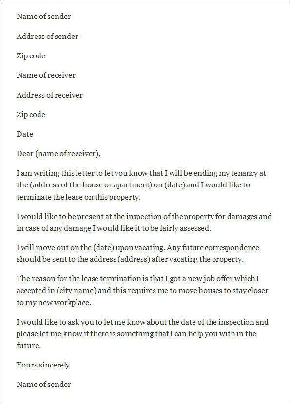 Lease Termination Letter Format [Nfgaccountability.com ]