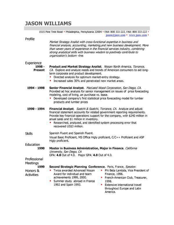 Good Simple Resume Format Freshers Sample Resume Tips Writing ...