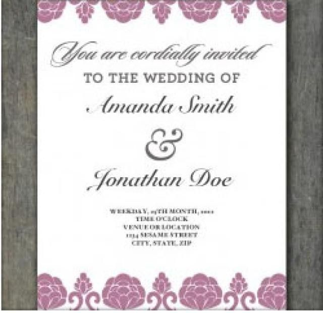 Free Print Out Wedding Invitation Templates | Saflly - Free ...