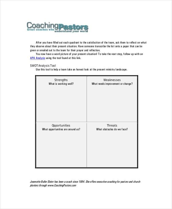 Swot Analysis Template - 10+ Free Word, PDF Documents Download ...