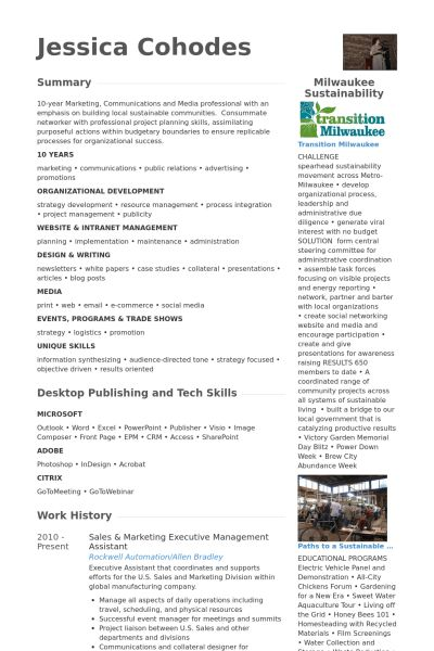Marketing Executive Resume samples - VisualCV resume samples database
