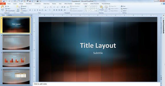 Vertical Lexicon Design Template for PowerPoint 2013