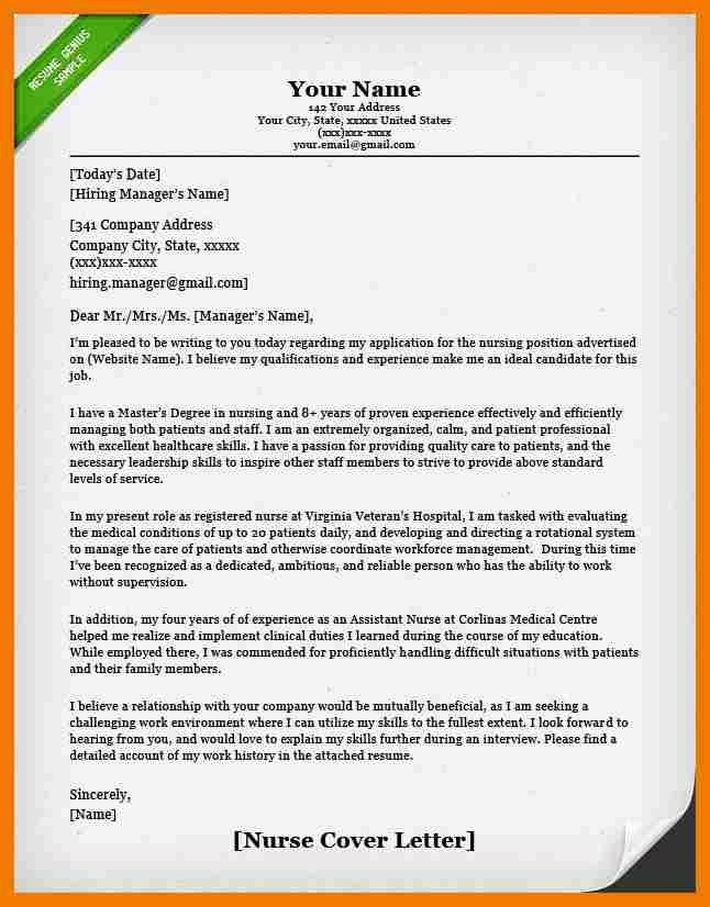 sample cover letter for lpn position cover letter nursing cover - Sample Cover Letters For Nursing Jobs