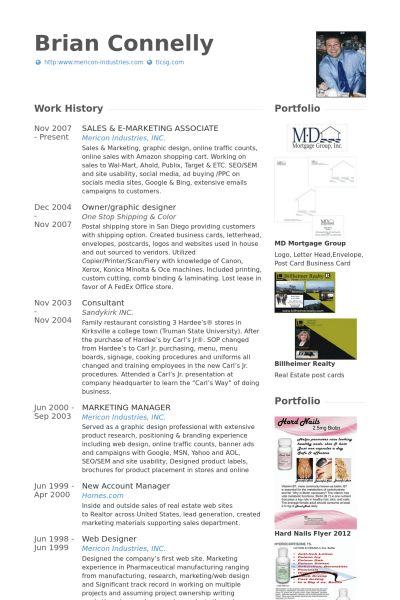 Marketing Associate Resume samples - VisualCV resume samples database