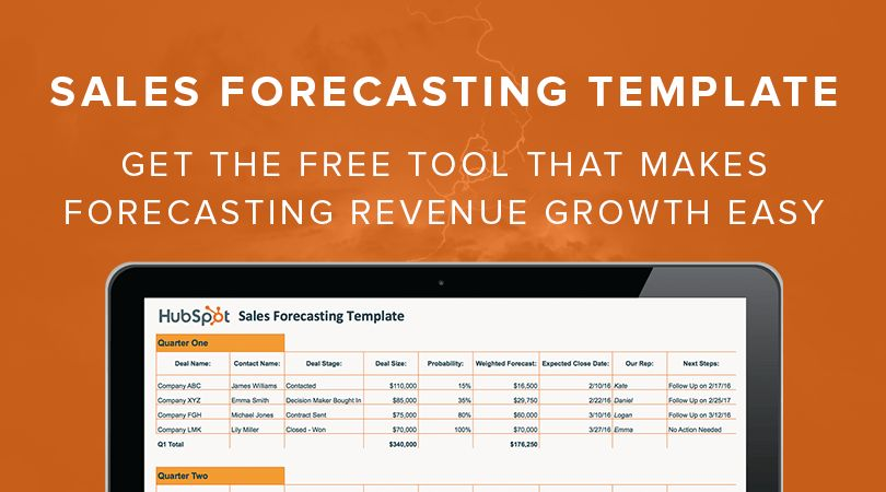 Free Sales Forecast Template from HubSpot
