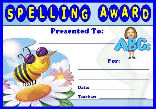 English Award Certificates