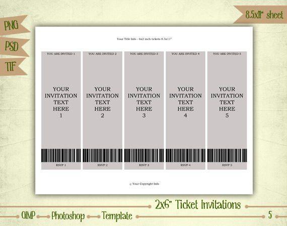 Ticket Invitation Template. Football Ticket Invitations Football ...