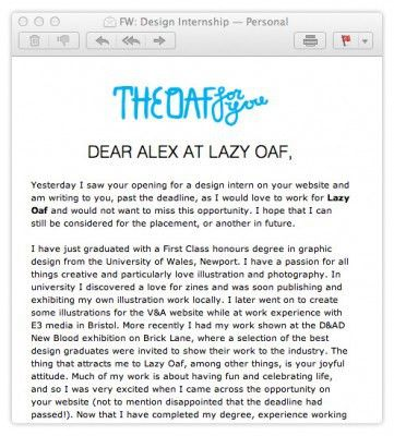 Design Graduates: Emails are the New Cover Letter - Fiasco Design