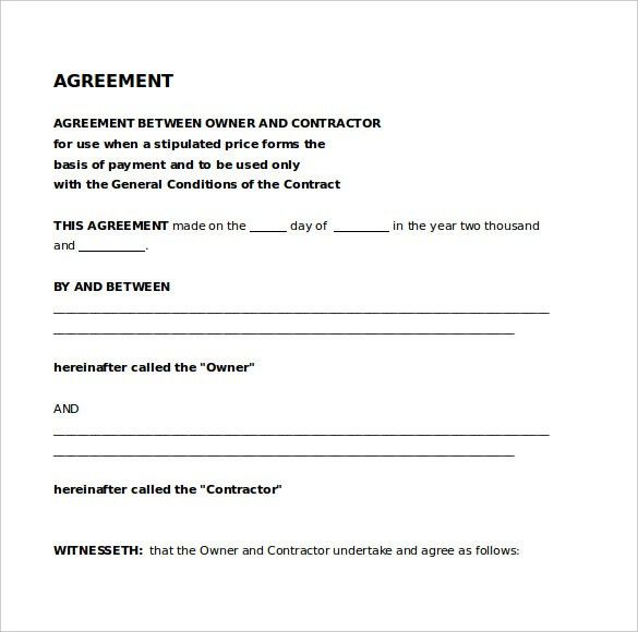 Legal Agreement Template – 9+ Free Word, PDF Documents Download ...