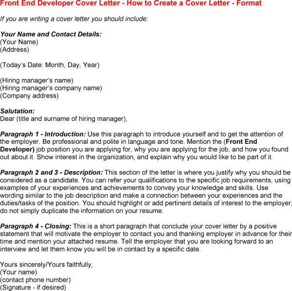 end developer opportunity cover letter end and for a your end a ...