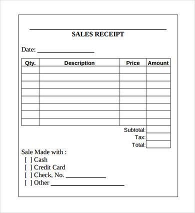 Printable Receipt Template Excel for Use and Different Receipt Types