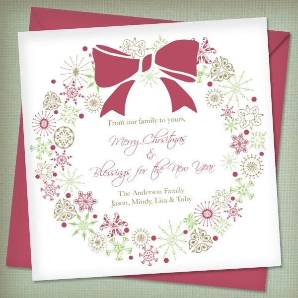 Christmas Invitation Templates with Wreath – Download & Print