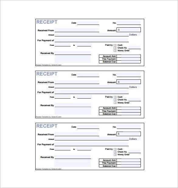 Invoice Receipt Template - 6+ Free Word, Excel, PDF Format ...