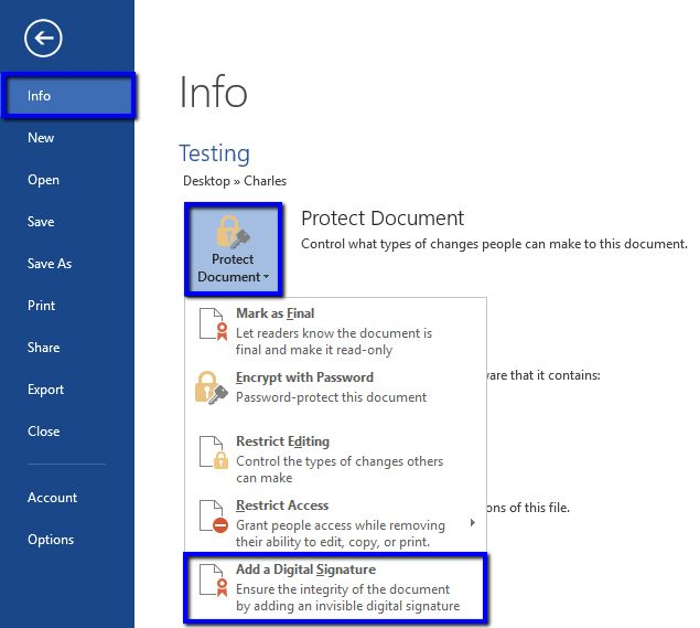 Sign Microsoft Office 2013, 2010, 2007 Documents – DigiCert.com