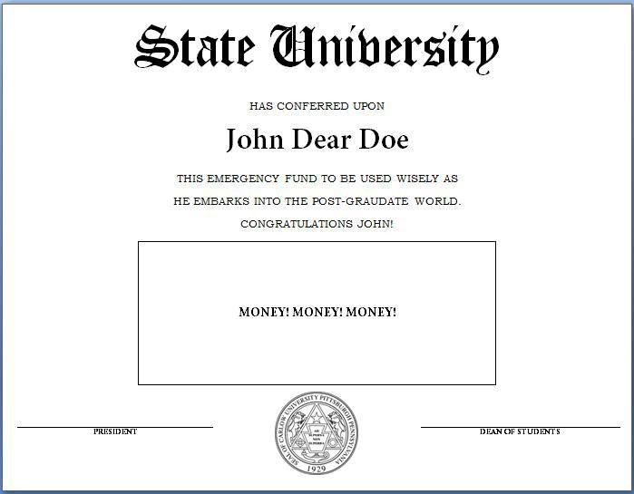 graduation diploma template microsoft word