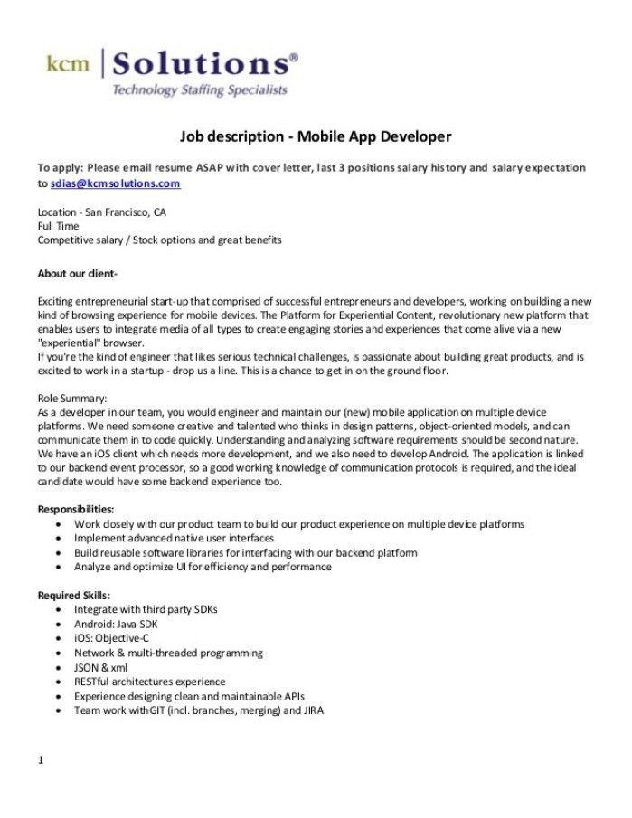 Xml Developer Cover Letter