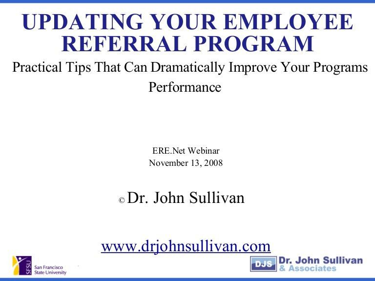 Updating Your Employee Referral Program