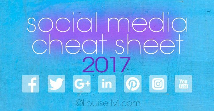 Media Cheat Sheet 2017: Must-Have Image Sizes!