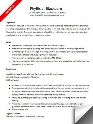 resume examples templates legal assistant cover letter the ...