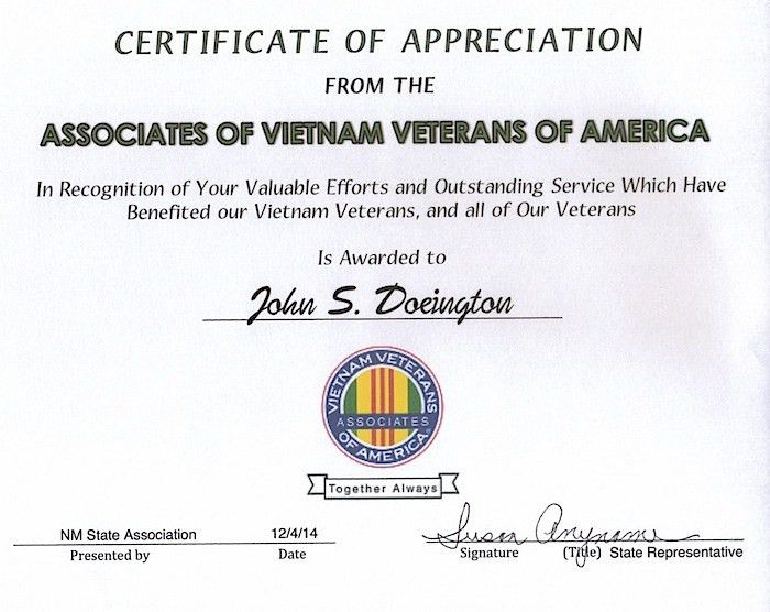 Associates of Vietnam Veterans of America