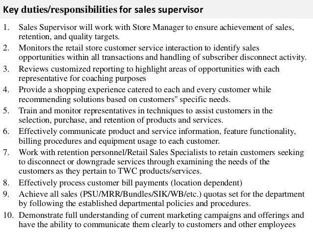 job performance evaluation. 11 store manager job description ...