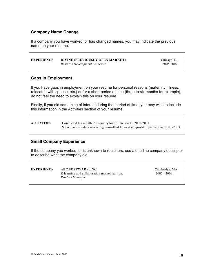Writing MBA Resumes