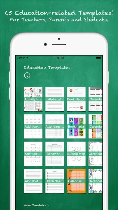 Education Templates for Pages on the App Store