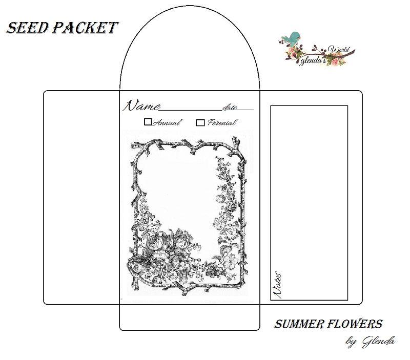 Seed Envelope / Packets Free-download | botanical prints ...