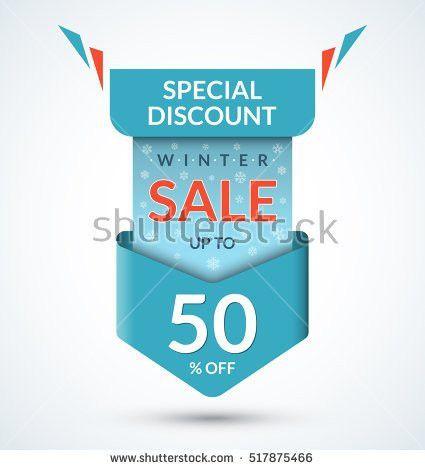 Winter Sale Banner Discount Label Christmas Stock Vector 527541028 ...