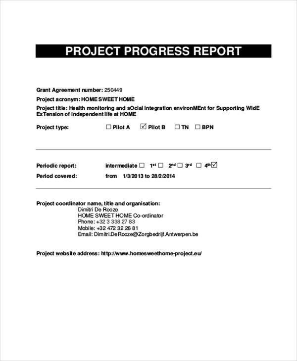 11+ Progress Report Templates- Word, PDF | Free & Premium Templates