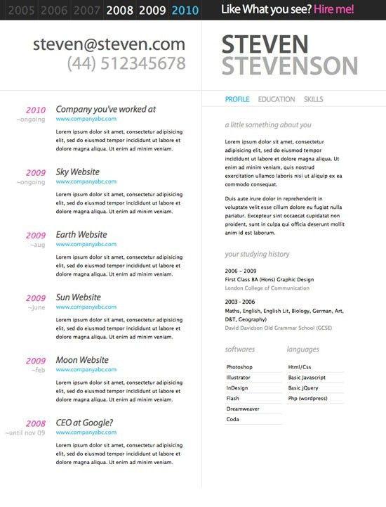 49 best CV Designs images on Pinterest   Cv design, Resume ideas ...