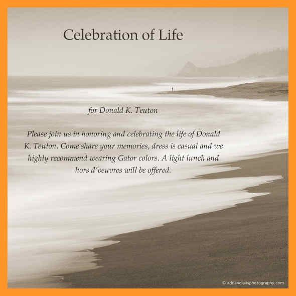 free celebration of life templates | sop example