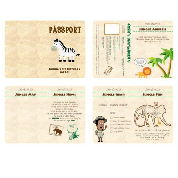 Safari Passport Birthday Invitation Template