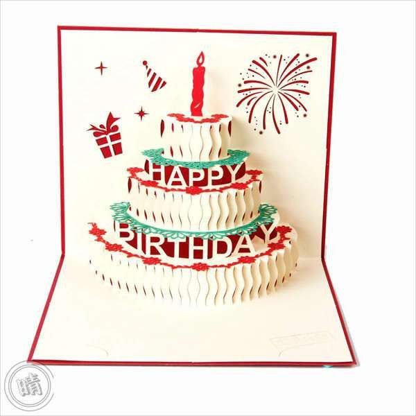 Greeting Card Template. Pop Up Birthday Greeting Card Greeting ...