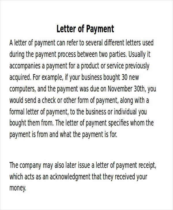 Receipt of Payment Letter - 7+ Examples in Word, PDF