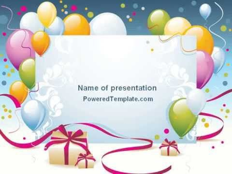 birthday card powerpoint template free birthday invitation ...